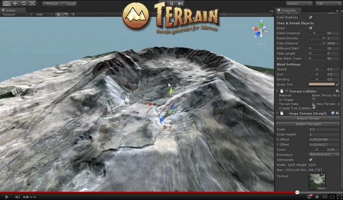 Terrain for 3DS Max 2013 released along with Unity scripts